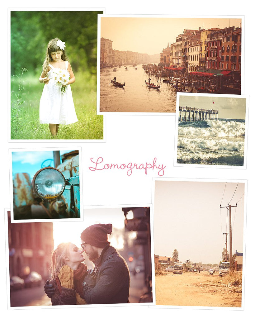 Collage of lomography presets