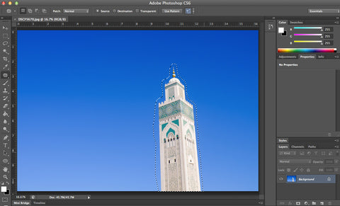 Retouching in Photoshop