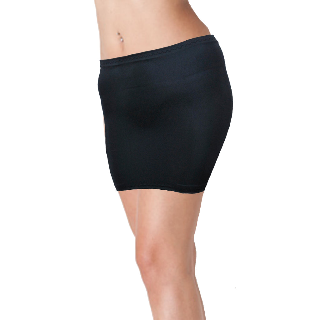 S23 - Dark Grey Charcoal Lycra Mini Skirt (12-13 Inch Length)