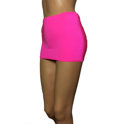 CS09 - UV Pink Lycra Micro Mini Skirt (9-10 Inch Length)