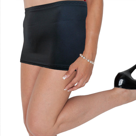 CS23 - Dark Grey Charcoal Lycra Micro Mini Skirt (9-10 Inch Length)
