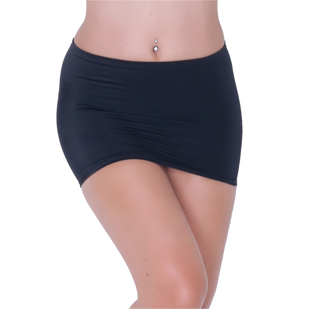 CS02 - Black Lycra Micro Mini Skirt (9-10 Inch Length)
