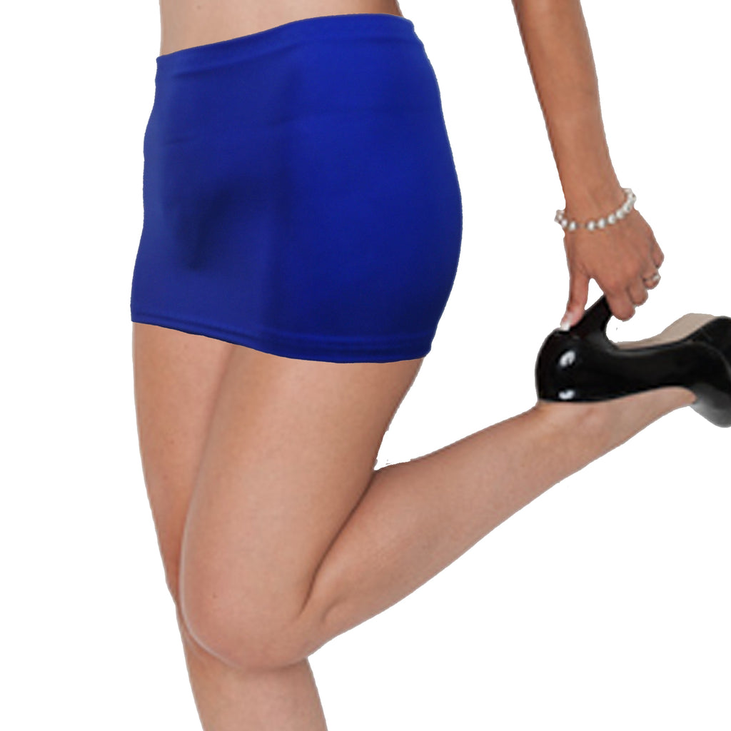 CS55 - Electric Blue Lycra Micro Mini Skirt (9-10 Inch Length)