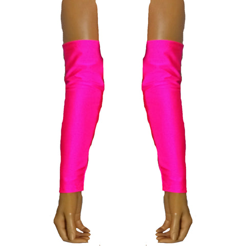 G09 - UV Pink Lycra Arm Warmers Gauntlets