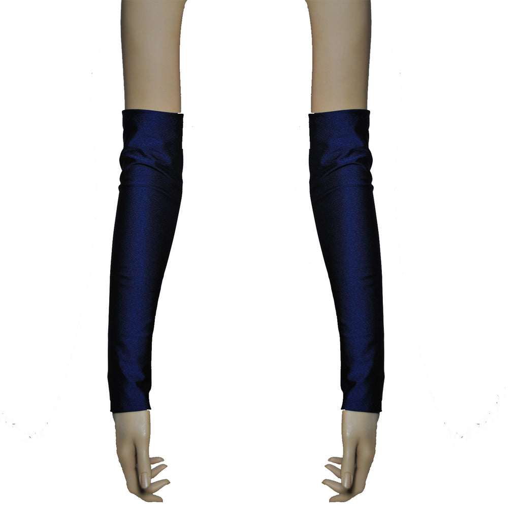 G45 - Navy Lycra Spandex Arm Warmers Gauntlets