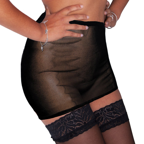 S56 - Black Net Mini Skirt (12-13 Inch Length)