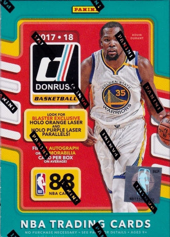 2017/18 Panini Donruss Basketball 11 Pack Blaster Box