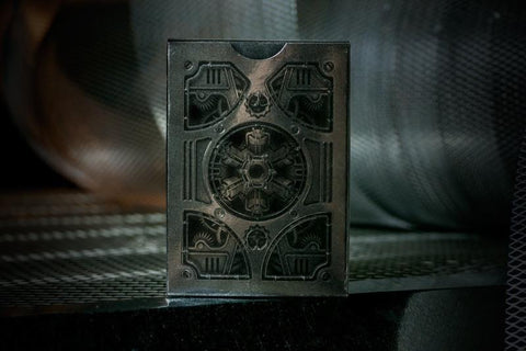 Silver Steampunk Bicycle - Theory 11 Playing Cards
