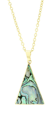 Abalone Triangle Necklace - lvndr  - 1