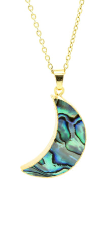 Abalone Moon Necklace - lvndr  - 1