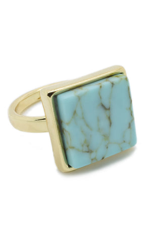 Square Turquoise Ring - lvndr