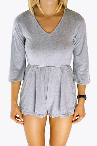 Grey Backless Playsuit - lvndr  - 1