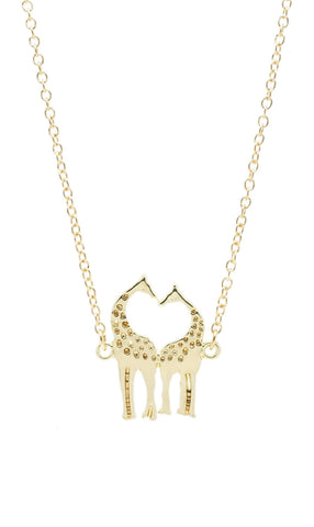 Kissing Giraffe Necklace - lvndr  - 1