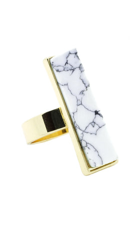Marble Rectangle Ring - lvndr  - 1