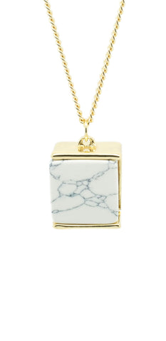 Marble Cube Necklace - lvndr  - 1