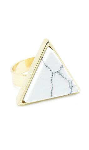 Marble Triangle Ring - lvndr