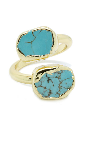 Double Turquoise Ring - lvndr  - 1