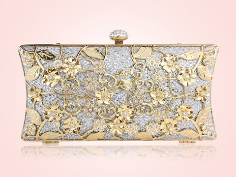 Evelyn Clutch - Silver & Gold