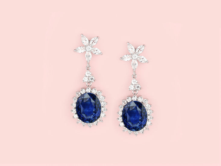 Chantilly Earrings - Sapphire
