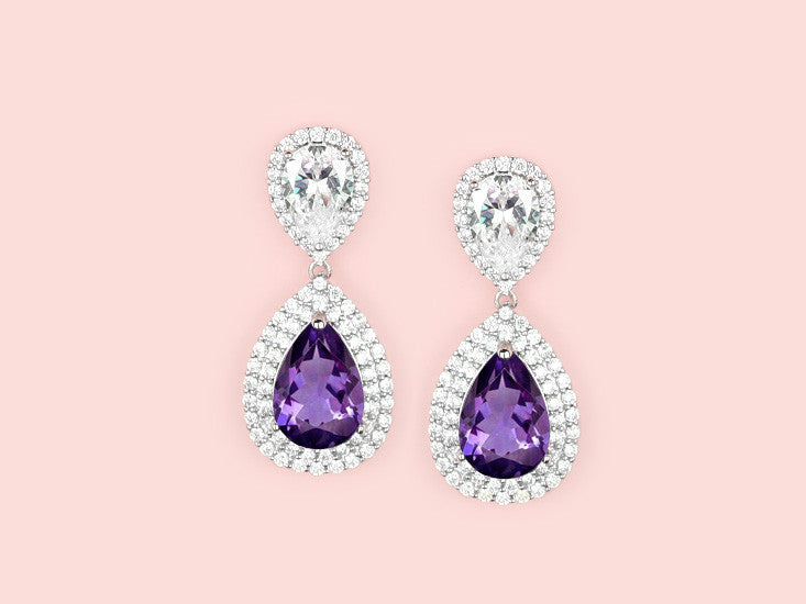 Loren Earrings - Amethyst