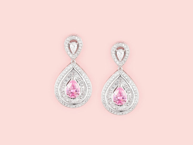 Mariah Earrings - Pink
