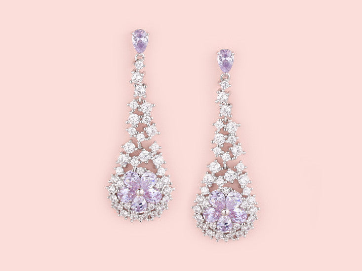 Tamara Earrings - Amethyst