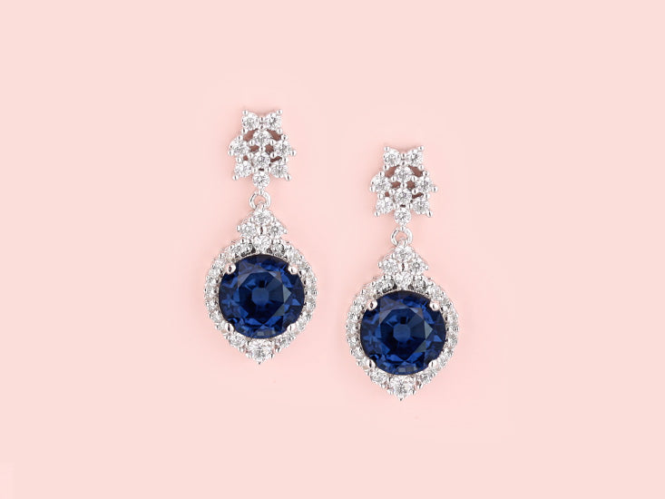 Minnie Earrings - Sapphire