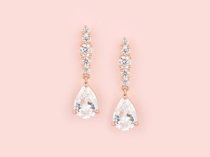 Lori Earrings - Rose Gold