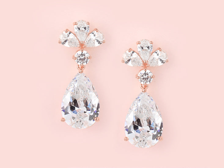 Clara Earrings Rose Gold