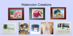 Various pieces of original Watercolor art and reproductions available for purchase in the Gift Shop