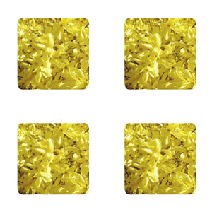 Yellow Forsythia Coasters: A 4-pc. set by PonsART; $20.00