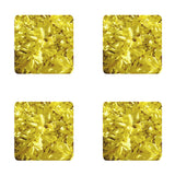 Square Yellow Coasters: A 4-pc. set by PonsART; $20.00 - PAMELA'S ART by PonsART - a Gift Shop and Marketplace