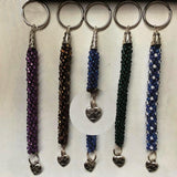 Animal-Lover Keychain: Handcrafted; Beaded; $40.00 - PAMELA'S ART by PonsART - a Gift Shop and Marketplace
