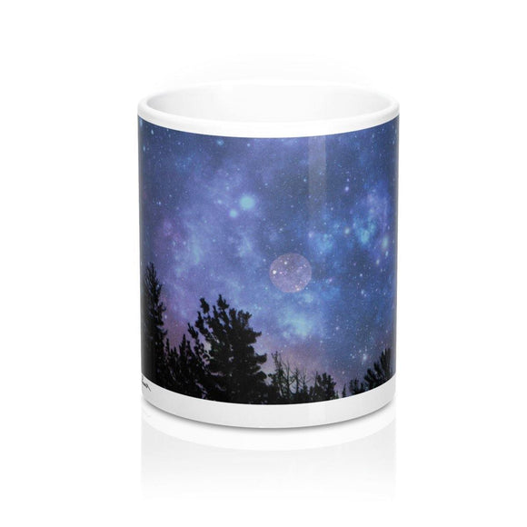 Blue Ceramic Mug: Full Moon photo by PonsART $23.25 - PAMELA'S ART by PonsART - a Gift Shop and Marketplace