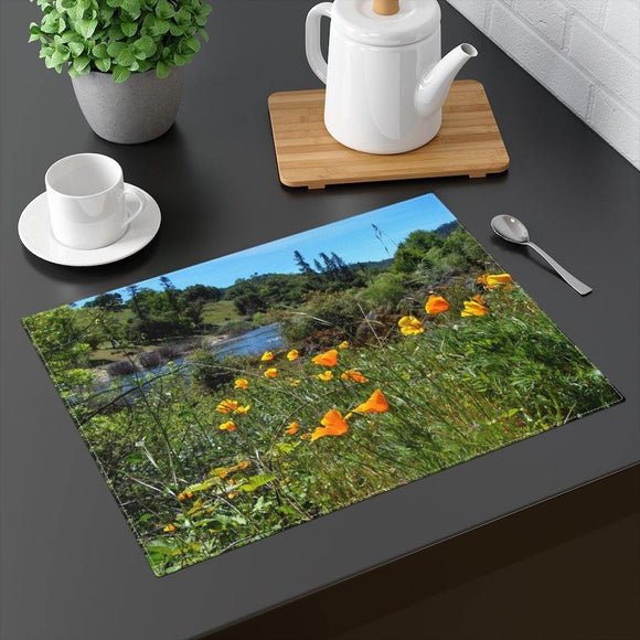 California Poppies Placemat: Scenic photo by PonsART $24.95 - PAMELA'S ART by PonsART - a Gift Shop and Marketplace