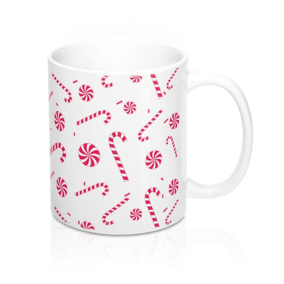 Candy Cane Mug: white ceramic by PonsART $23.25 - PAMELA'S ART by PonsART - a Gift Shop and Marketplace