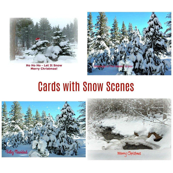 Cards with Snow: 12 piece sets by PonsArt $39.95 - PAMELA'S ART by PonsART - a Gift Shop and Marketplace