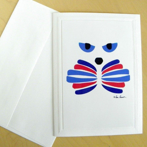 Cat-Art Greeting Card: Blank Inside; by PonsART $6.25 - PAMELA'S ART by PonsART - a Gift Shop and Marketplace