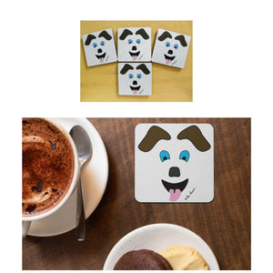 Coasters with Dog-Art: A 4-piece set by PonsART $20.00 - PAMELA'S ART by PonsART - a Gift Shop and Marketplace