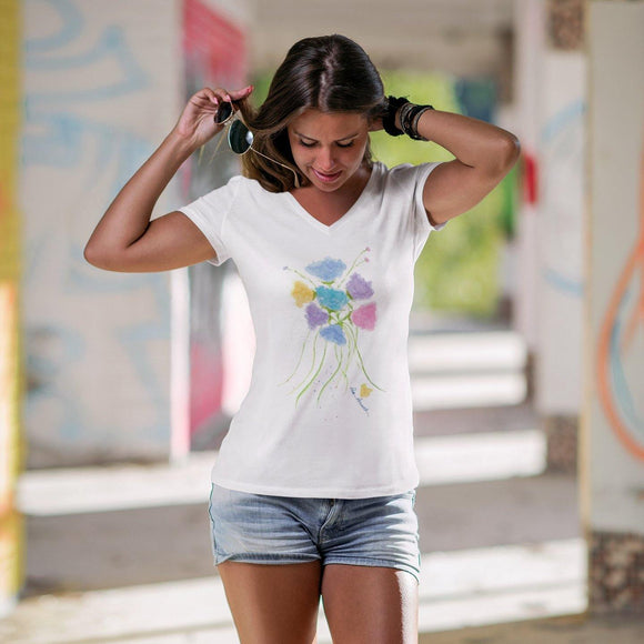 Cotton V-neck T-shirt: For Women; by PonsART $33.95+ - PAMELA'S ART by PonsART - a Gift Shop and Marketplace