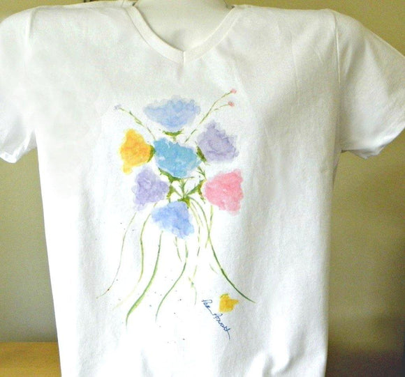 Cotton V-neck T-shirt: For Women; by PonsART $39.95+ - PAMELA'S ART by PonsART - a Gift Shop and Marketplace