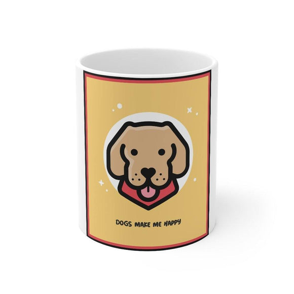 Dog-Lover Mug: White; Ceramic; 11oz by PonsART $23.25 - PAMELA'S ART by PonsART - a Gift Shop and Marketplace