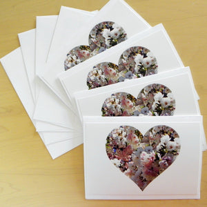 Floral Love Note Cards: 4-piece set; by PonsART $17.95 - PAMELA'S ART by PonsART - a Gift Shop and Marketplace