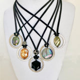 Handcrafted Crystal Pendants: 5 Unique Styles $35.00 - PAMELA'S ART by PonsART - a Gift Shop and Marketplace