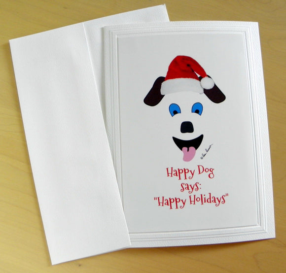 Handcrafted Holiday Card: Dog-Art; by PonsArt $6.25 - PAMELA'S ART by PonsART - a Gift Shop and Marketplace