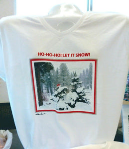 Holiday V-neck T-shirt: Cotton; Women's; by PonsART $39.95+ - PAMELA'S ART by PonsART - a Gift Shop and Marketplace