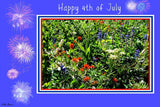 July 4th Card: Blank Inside; Handcrafted by PonsART $6.25 - PAMELA'S ART by PonsART - a Gift Shop and Marketplace