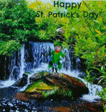 Leprechaun's Jig Card: Blank inside; by PonsArt $6.25 - PAMELA'S ART by PonsART - a Gift Shop and Marketplace