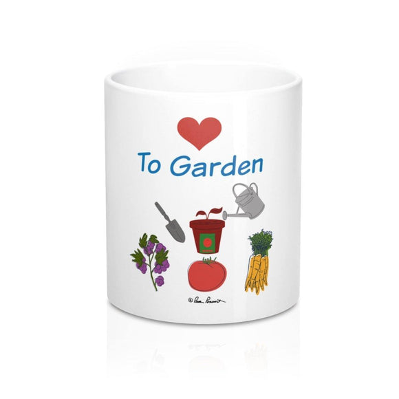 Mug for Gardener: Ceramic; White; by PonsART $23.25 - PAMELA'S ART by PonsART - a Gift Shop and Marketplace
