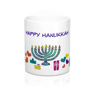 Mug For Hanukkah: White; Ceramic;; by PonsART $23.25 - PAMELA'S ART by PonsART - a Gift Shop and Marketplace